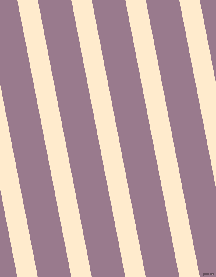 101 degree angle lines stripes, 66 pixel line width, 108 pixel line spacing, Blanched Almond and Mountbatten Pink angled lines and stripes seamless tileable