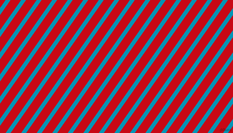 55 degree angle lines stripes, 13 pixel line width, 28 pixel line spacing, Bondi Blue and Venetian Red angled lines and stripes seamless tileable