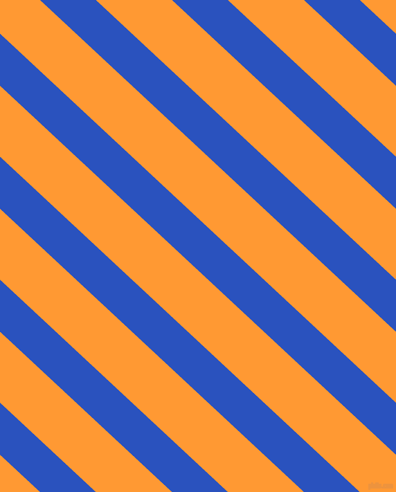 137 degree angle lines stripes, 55 pixel line width, 75 pixel line spacing, Cerulean Blue and Neon Carrot angled lines and stripes seamless tileable