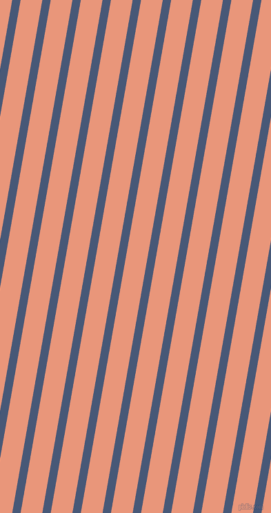 80 degree angle lines stripes, 12 pixel line width, 31 pixel line spacing, Chambray and Dark Salmon angled lines and stripes seamless tileable