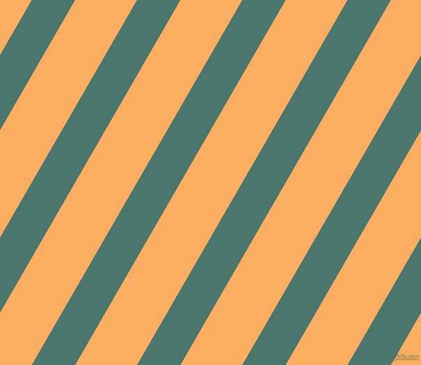 60 degree angle lines stripes, 54 pixel line width, 77 pixel line spacing, Dark Green Copper and Rajah angled lines and stripes seamless tileable