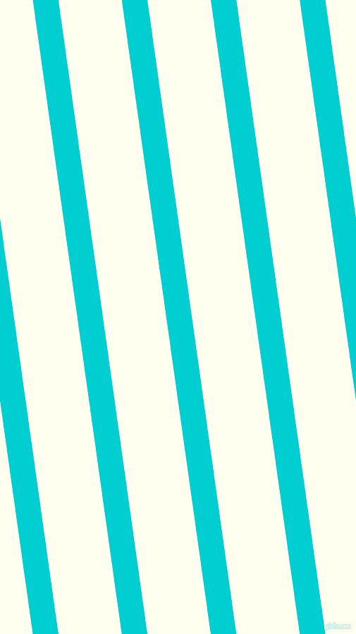 98 degree angle lines stripes, 36 pixel line width, 89 pixel line spacing, Dark Turquoise and Ivory angled lines and stripes seamless tileable