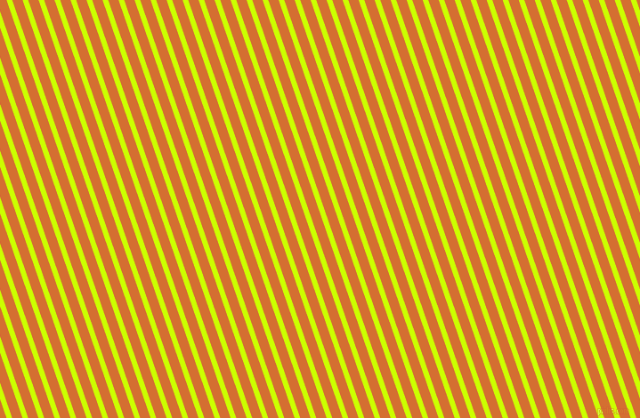 109 degree angle lines stripes, 6 pixel line width, 11 pixel line spacing, Electric Lime and Tango angled lines and stripes seamless tileable