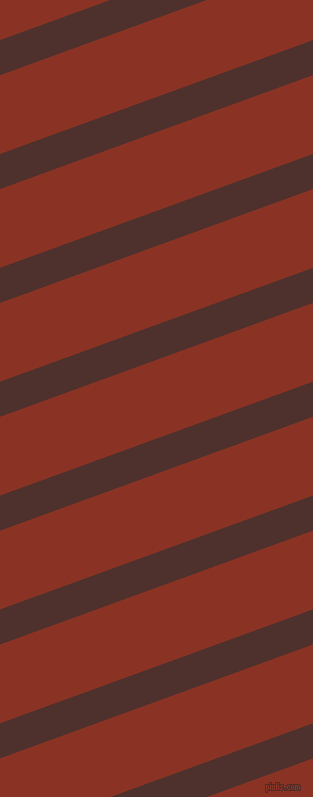 20 degree angle lines stripes, 33 pixel line width, 74 pixel line spacing, Espresso and Burnt Umber angled lines and stripes seamless tileable