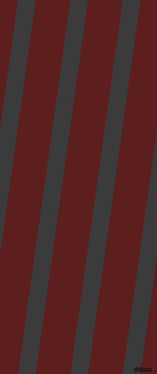 82 degree angle lines stripes, 36 pixel line width, 71 pixel line spacing, Fuscous Grey and Red Oxide angled lines and stripes seamless tileable