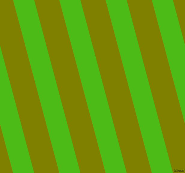 105 degree angle lines stripes, 68 pixel line width, 81 pixel line spacing, Kelly Green and Olive angled lines and stripes seamless tileable