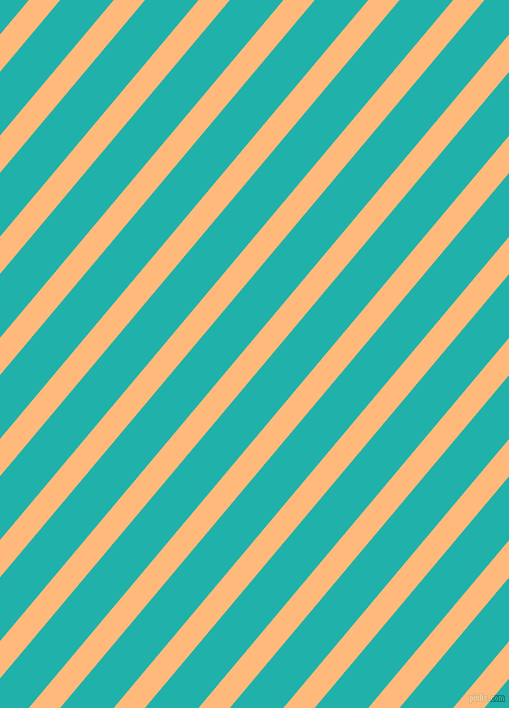 50 degree angle lines stripes, 24 pixel line width, 41 pixel line spacing, Macaroni And Cheese and Light Sea Green angled lines and stripes seamless tileable
