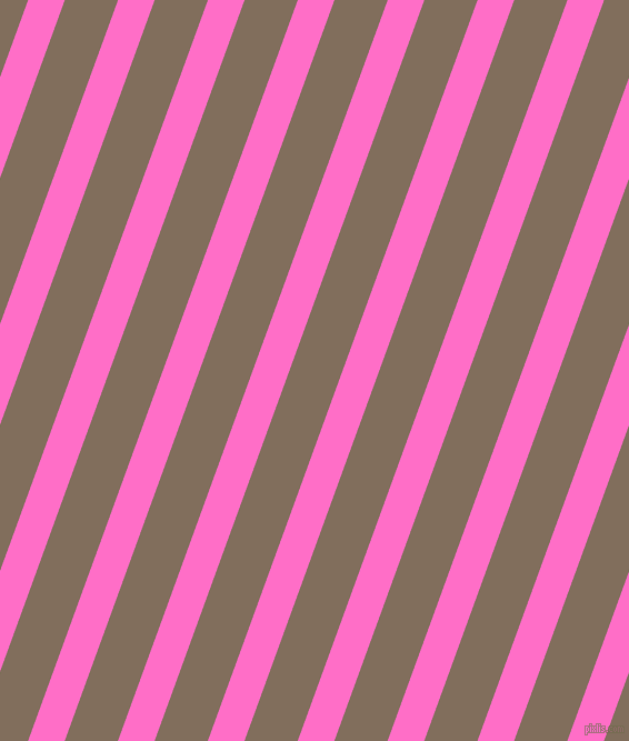 70 degree angle lines stripes, 31 pixel line width, 45 pixel line spacing, Neon Pink and Donkey Brown angled lines and stripes seamless tileable