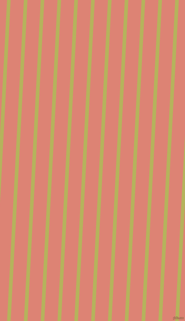 87 degree angle lines stripes, 12 pixel line width, 44 pixel line spacing, Olive Green and New York Pink angled lines and stripes seamless tileable