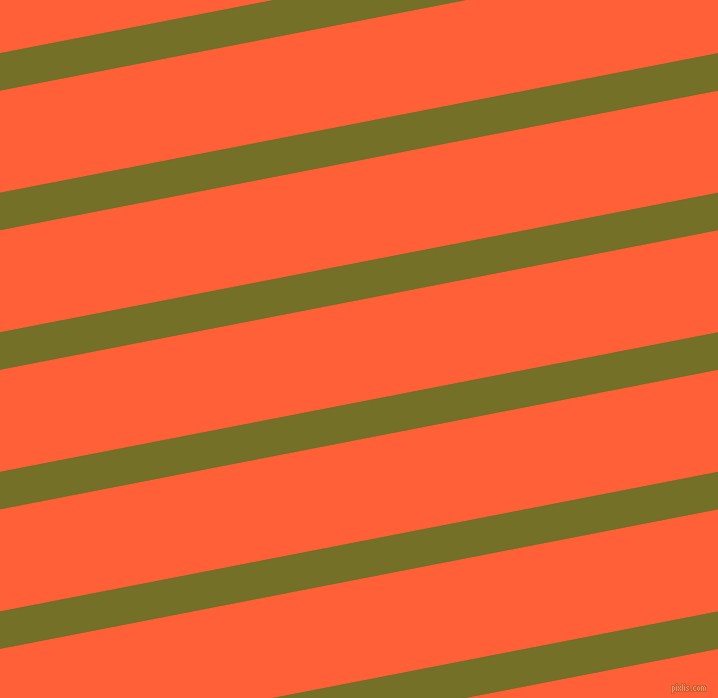 11 degree angle lines stripes, 37 pixel line width, 100 pixel line spacing, Olivetone and Outrageous Orange angled lines and stripes seamless tileable