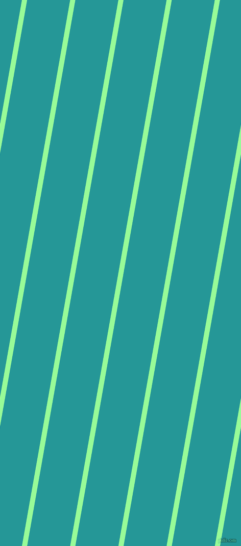 80 degree angle lines stripes, 10 pixel line width, 83 pixel line spacing, Pale Green and Java angled lines and stripes seamless tileable