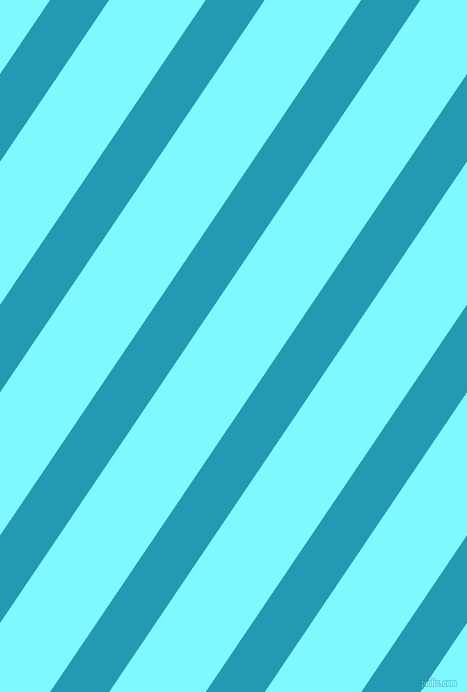 56 degree angle lines stripes, 49 pixel line width, 80 pixel line spacing, Pelorous and Electric Blue angled lines and stripes seamless tileable