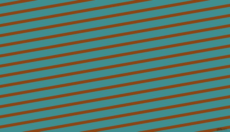 10 degree angle lines stripes, 10 pixel line width, 24 pixel line spacing, Saddle Brown and Blue Chill angled lines and stripes seamless tileable