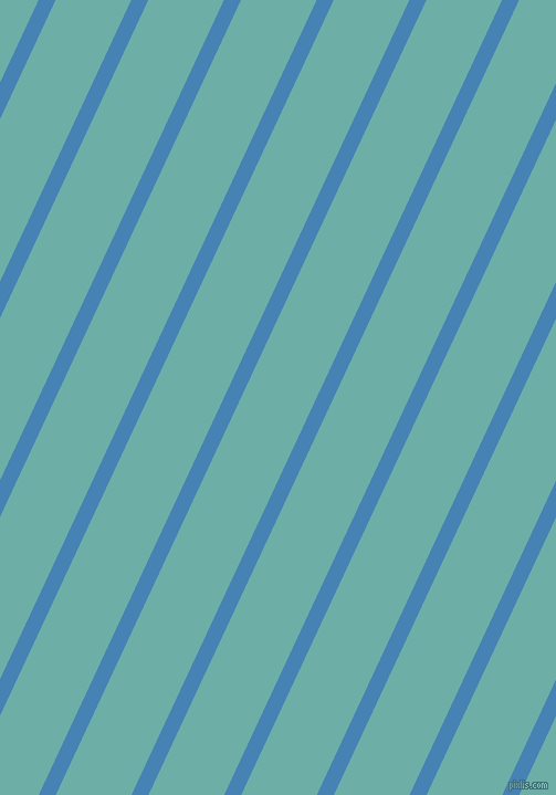 65 degree angle lines stripes, 14 pixel line width, 62 pixel line spacing, Steel Blue and Tradewind angled lines and stripes seamless tileable