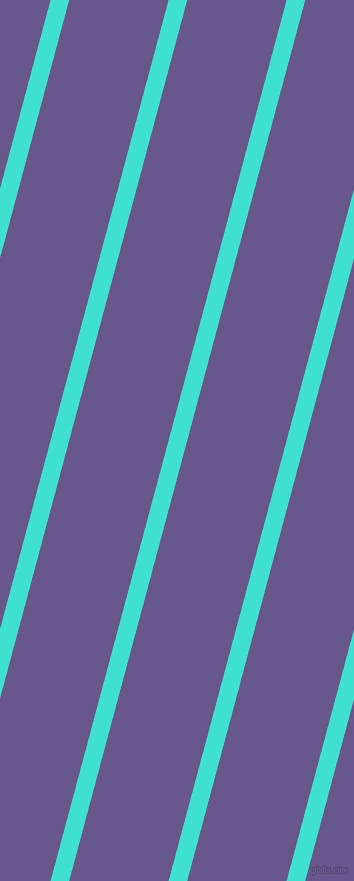 75 degree angle lines stripes, 18 pixel line width, 96 pixel line spacing, Turquoise and Butterfly Bush angled lines and stripes seamless tileable