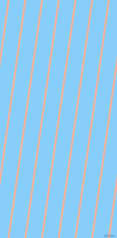 82 degree angle lines stripes, 7 pixel line width, 50 pixel line spacing, Wax Flower and Light Sky Blue angled lines and stripes seamless tileable