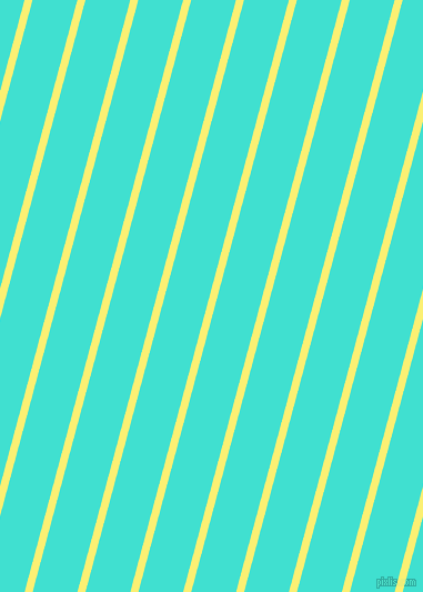 75 degree angle lines stripes, 7 pixel line width, 39 pixel line spacing, Witch Haze and Turquoise angled lines and stripes seamless tileable