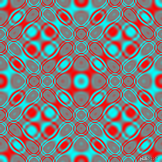 , Aqua and Red cellular plasma seamless tileable