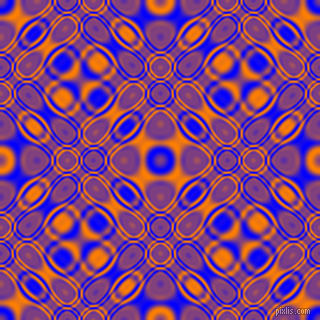 , Blue and Dark Orange cellular plasma seamless tileable