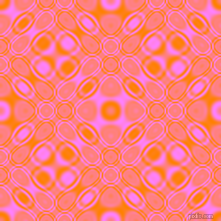 , Dark Orange and Fuchsia Pink cellular plasma seamless tileable
