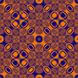 Navy and Dark Orange cellular plasma seamless tileable