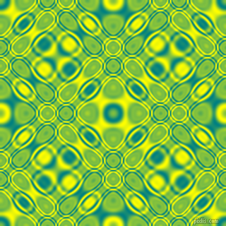, Teal and Yellow cellular plasma seamless tileable