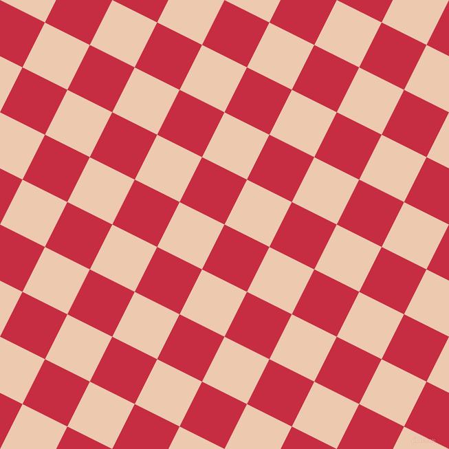 Brick Red and Desert Sand checkers chequered checkered