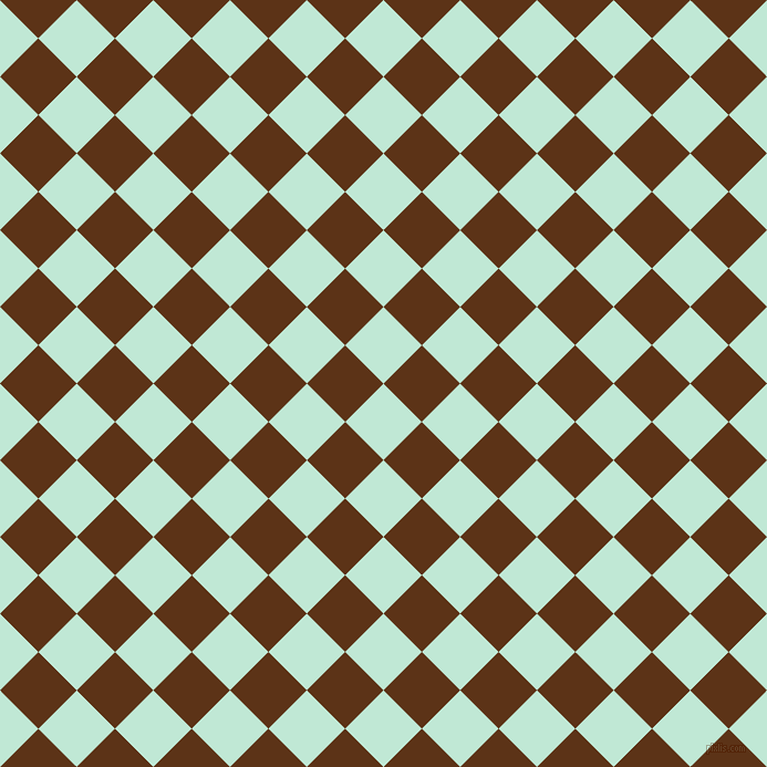 Aero Blue And Baker's Chocolate Checkers Chequered Checkered Squares Magnificent Checker Pattern