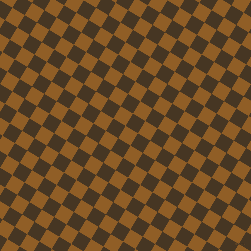 59/149 degree angle diagonal checkered chequered squares checker pattern checkers background, 49 pixel square size, , Afghan Tan and Clinker checkers chequered checkered squares seamless tileable