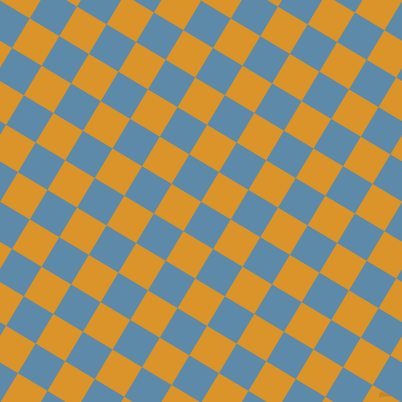 59/149 degree angle diagonal checkered chequered squares checker pattern checkers background, 68 pixel square size, , Air Force Blue and Buttercup checkers chequered checkered squares seamless tileable