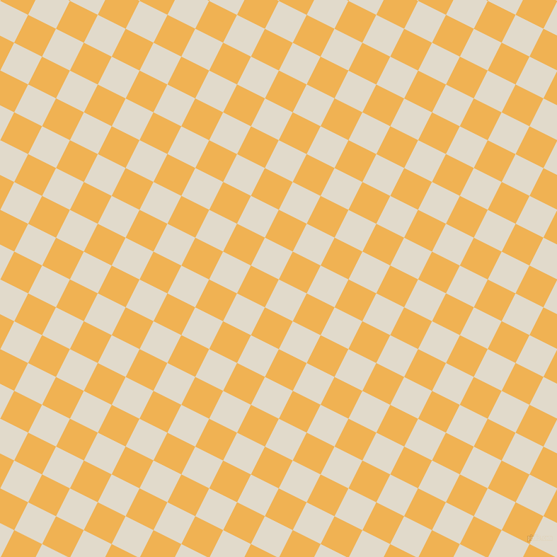 63/153 degree angle diagonal checkered chequered squares checker pattern checkers background, 44 pixel square size, , Albescent White and Casablanca checkers chequered checkered squares seamless tileable