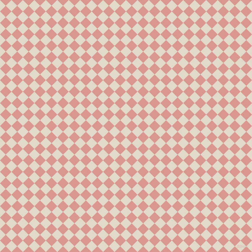45/135 degree angle diagonal checkered chequered squares checker pattern checkers background, 26 pixel square size, , Albescent White and Petite Orchid checkers chequered checkered squares seamless tileable