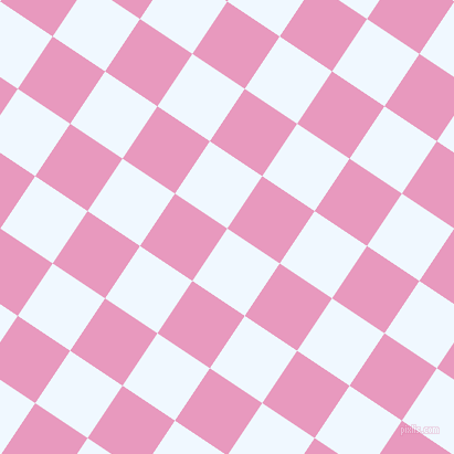 56/146 degree angle diagonal checkered chequered squares checker pattern checkers background, 57 pixel square size, , Alice Blue and Shocking checkers chequered checkered squares seamless tileable