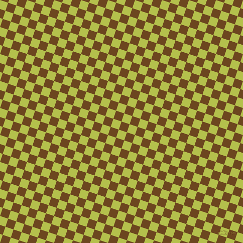 72/162 degree angle diagonal checkered chequered squares checker pattern checkers background, 17 pixel squares size, , Antique Brass and Celery checkers chequered checkered squares seamless tileable