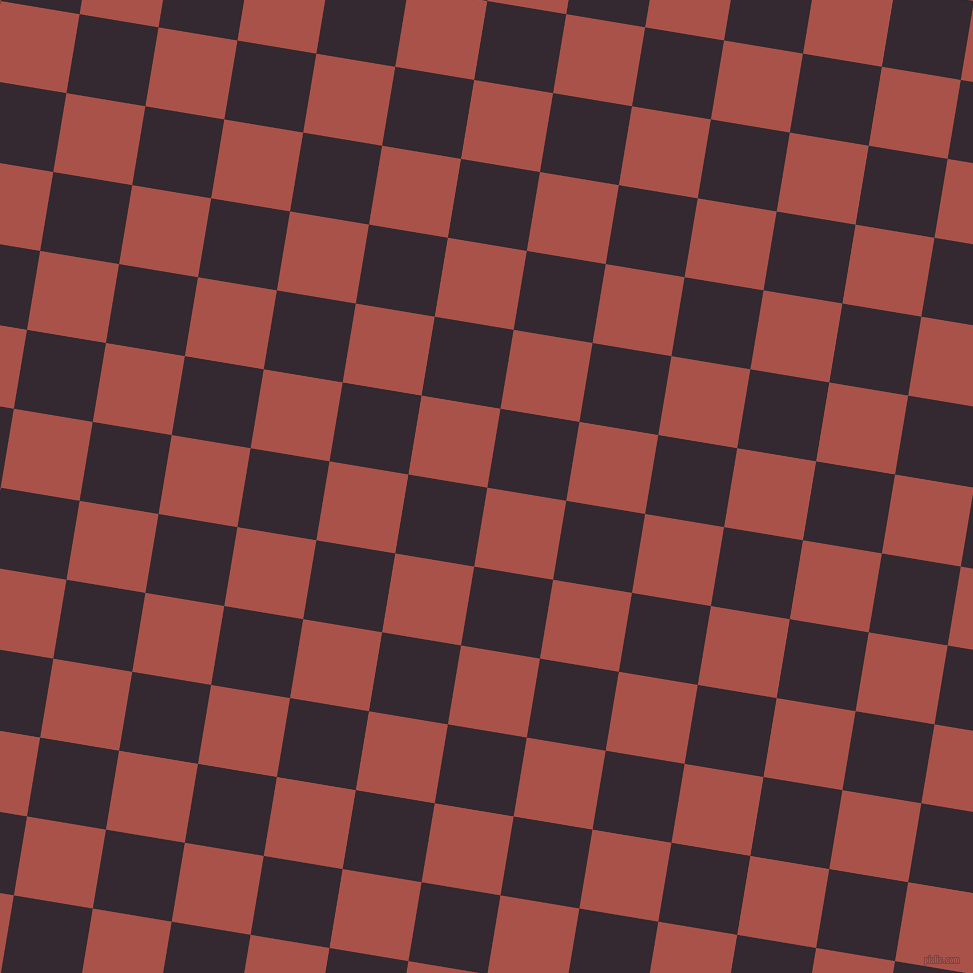 81/171 degree angle diagonal checkered chequered squares checker pattern checkers background, 80 pixel square size, , Apple Blossom and Melanzane checkers chequered checkered squares seamless tileable