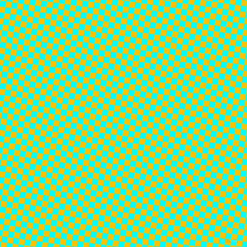 82/172 degree angle diagonal checkered chequered squares checker pattern checkers background, 12 pixel square size, , Aqua and Golden Poppy checkers chequered checkered squares seamless tileable