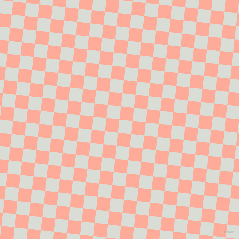 84/174 degree angle diagonal checkered chequered squares checker pattern checkers background, 44 pixel squares size, , Aqua Haze and Rose Bud checkers chequered checkered squares seamless tileable