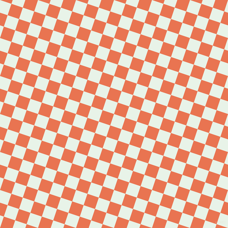 72/162 degree angle diagonal checkered chequered squares checker pattern checkers background, 42 pixel square size, , Aqua Spring and Burnt Sienna checkers chequered checkered squares seamless tileable