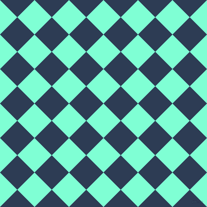 45/135 degree angle diagonal checkered chequered squares checker pattern checkers background, 80 pixel squares size, , Aquamarine and Madison checkers chequered checkered squares seamless tileable