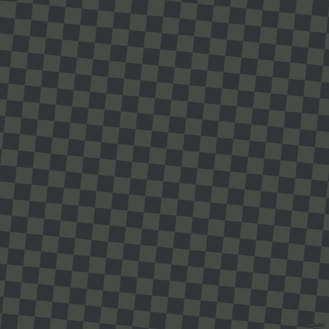 84/174 degree angle diagonal checkered chequered squares checker pattern checkers background, 33 pixel squares size, , Armadillo and Ebony Clay checkers chequered checkered squares seamless tileable