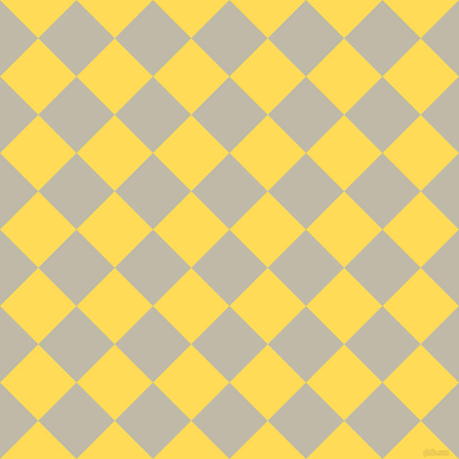 45/135 degree angle diagonal checkered chequered squares checker pattern checkers background, 76 pixel squares size, , Ash and Mustard checkers chequered checkered squares seamless tileable