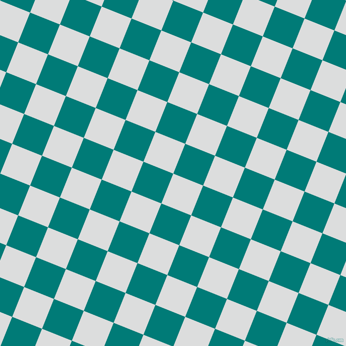 68/158 degree angle diagonal checkered chequered squares checker pattern checkers background, 65 pixel square size, Athens Grey and Surfie Green checkers chequered checkered squares seamless tileable