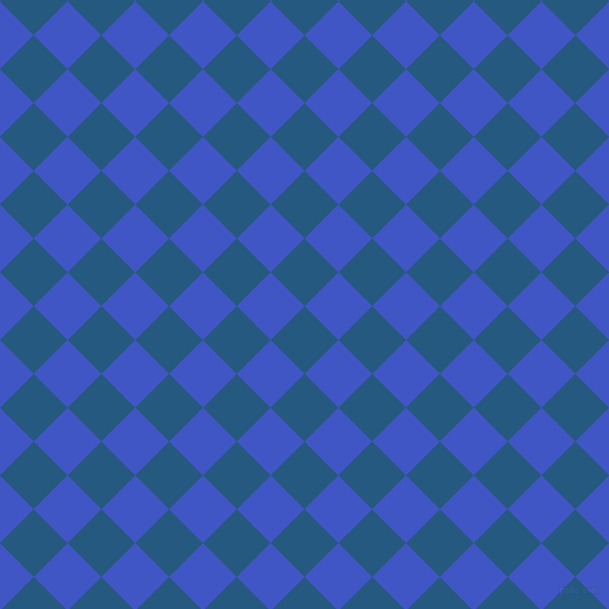 45/135 degree angle diagonal checkered chequered squares checker pattern checkers background, 43 pixel squares size, , Bahama Blue and Free Speech Blue checkers chequered checkered squares seamless tileable