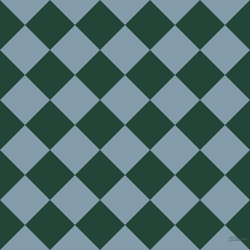 45/135 degree angle diagonal checkered chequered squares checker pattern checkers background, 70 pixel squares size, Bali Hai and Burnham checkers chequered checkered squares seamless tileable