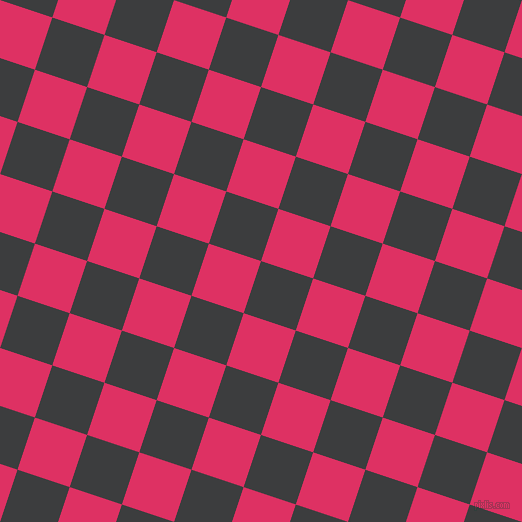 72/162 degree angle diagonal checkered chequered squares checker pattern checkers background, 55 pixel squares size, , Baltic Sea and Cerise checkers chequered checkered squares seamless tileable