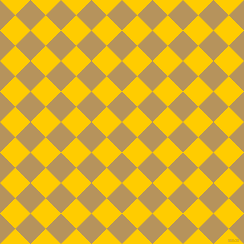 45/135 degree angle diagonal checkered chequered squares checker pattern checkers background, 70 pixel squares size, , Barley Corn and Tangerine Yellow checkers chequered checkered squares seamless tileable