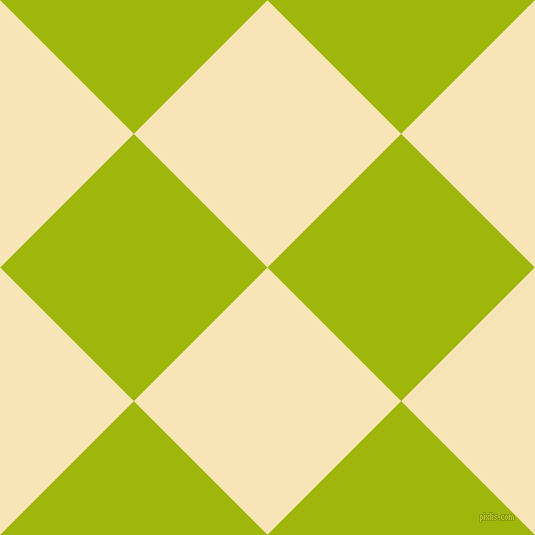 45/135 degree angle diagonal checkered chequered squares checker pattern checkers background, 189 pixel squares size, Barley White and Citrus checkers chequered checkered squares seamless tileable