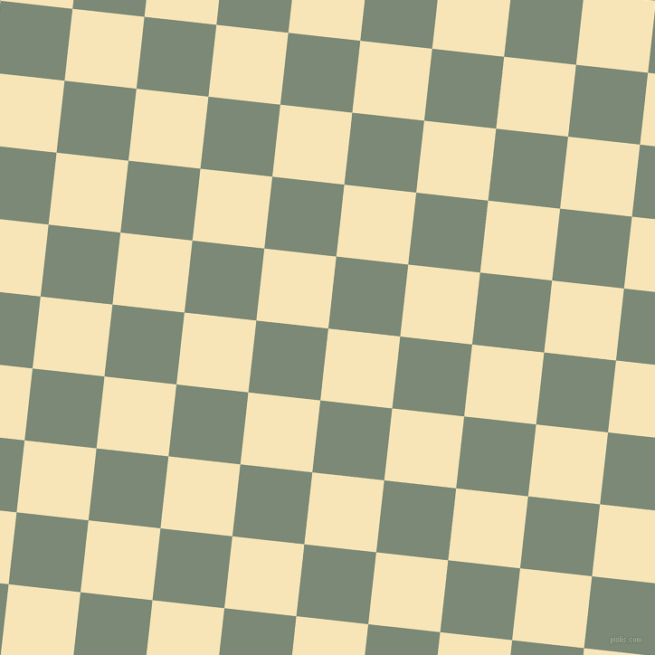 84/174 degree angle diagonal checkered chequered squares checker pattern checkers background, 80 pixel squares size, , Barley White and Spanish Green checkers chequered checkered squares seamless tileable