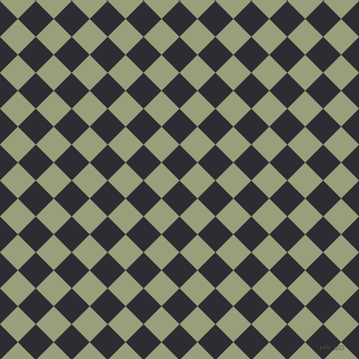 45/135 degree angle diagonal checkered chequered squares checker pattern checkers background, 37 pixel square size, , Bastille and Sage checkers chequered checkered squares seamless tileable