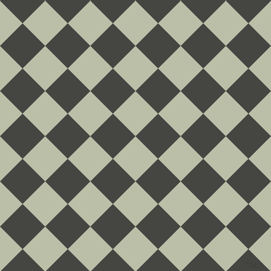 45/135 degree angle diagonal checkered chequered squares checker pattern checkers background, 66 pixel square size, , Beryl Green and Tuatara checkers chequered checkered squares seamless tileable